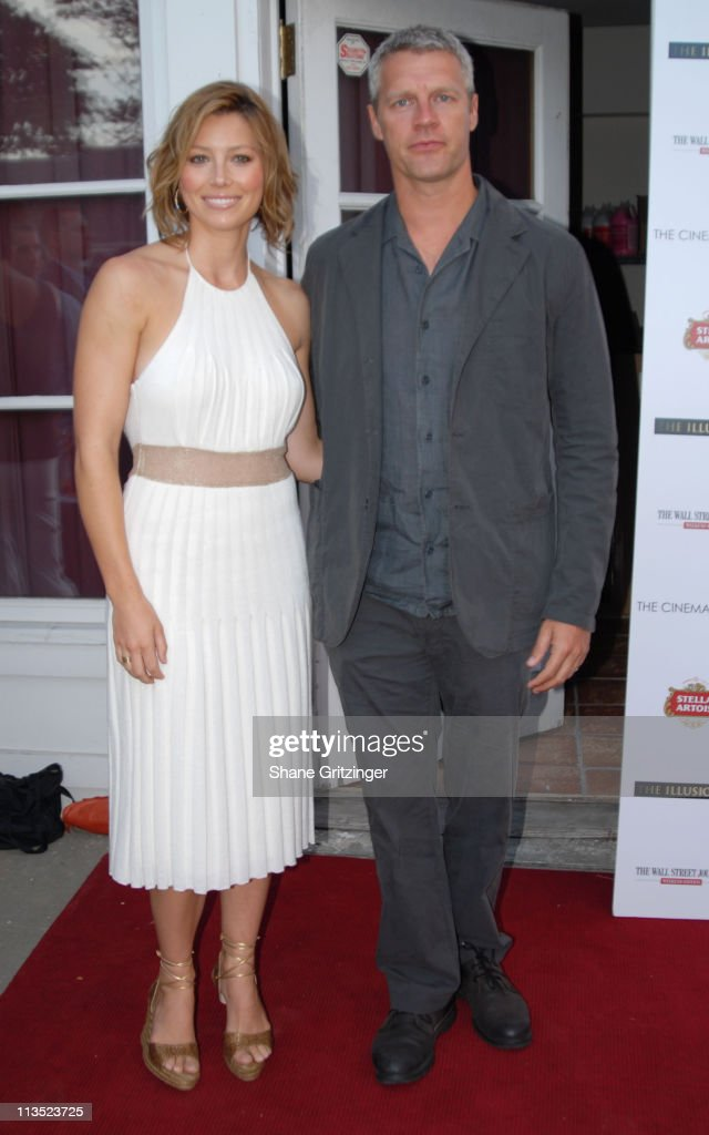 Jessica Biel and Neil Burger during The Cinema Society and The Wall Street Journal host 'The Illusionist' Arrivals at Southampton UA Cinema in...