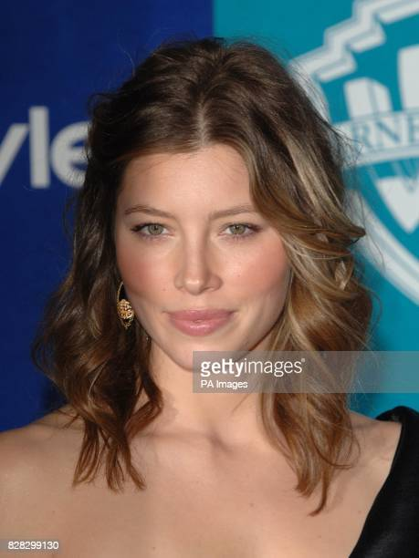Jessica Biel arrives at the InStyle / Warner Bros party following the Golden Globe Awards at the Hollywood Hilton Los Angeles Monday 16 January 2006...