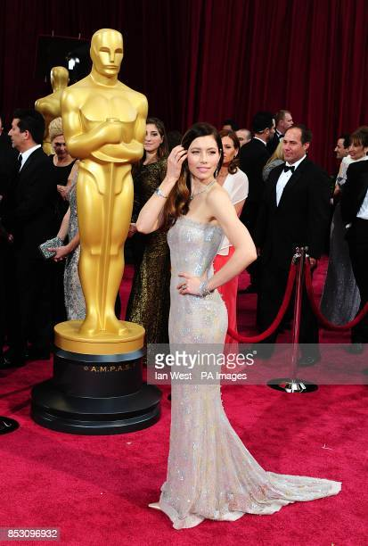 Jessica Biel arriving at the 86th Academy Awards held at the Dolby Theatre in Hollywood Los Angeles CA USA March 2 2014
