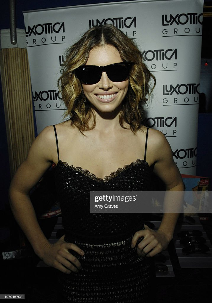 luxottica ray ban r90a  Jessica Biel at Ray-Ban during Ray-Ban at Luxottica Luxury Lounge at  Hollywood
