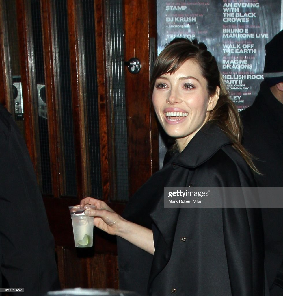 Jessica Biel at The Kentish Town forum for Justin Timberlakes live show on February 20, 2013 in London, England.