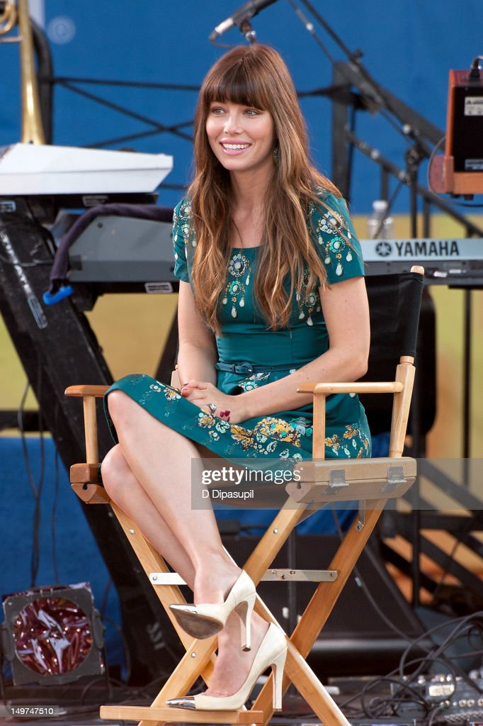 Jessica Biel attends ABC's 'Good Morning America' at Rumsey Playfield, Central Park on August 3, 2012 in New York City.