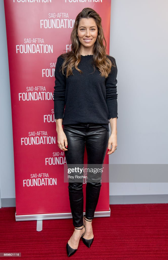 Jessica Biel attends SAG-AFTRA foundation conversations presents 'The Sinner' With Jessica Biel at SAG-AFTRA foundation Robin Williams Center on November 2, 2017 in New York City.