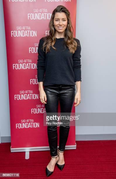 Jessica Biel attends SAGAFTRA foundation conversations presents 'The Sinner' With Jessica Biel at SAGAFTRA foundation Robin Williams Center on...