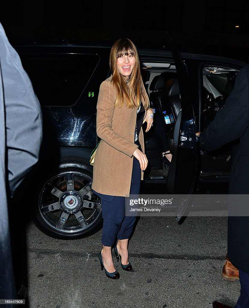 Jessica Biel attends SNL after party at Buddakan on March 10, 2013 in New York City.
