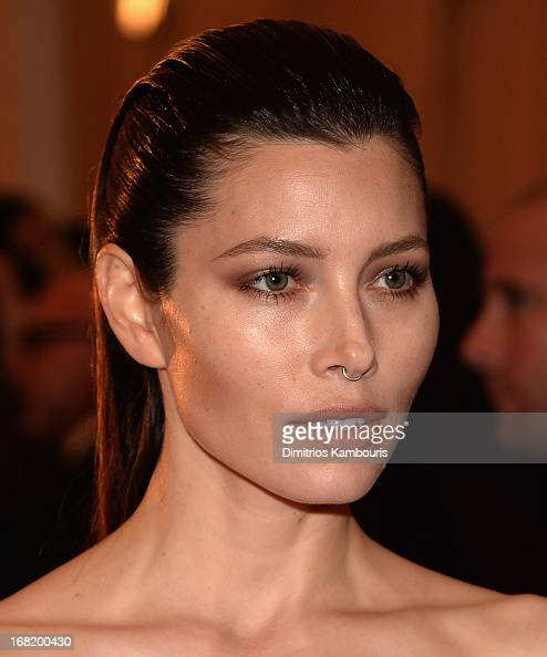 Jessica Biel attends the 2013 Costume Institute Gala PUNK Chaos to Couture at Metropolitan Museum of Art on May 6 2013 in New York City