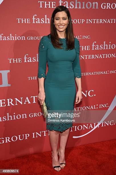 Jessica Biel attends the 2015 Fashion Group International Night Of Stars Gala at Cipriani Wall Street on October 22 2015 in New York City