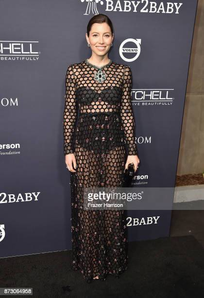 Jessica Biel attends The 2017 Baby2Baby Gala presented by Paul Mitchell on November 11 2017 in Los Angeles California