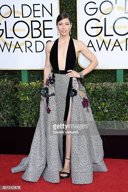 Jessica Biel attends the 74th Annual Golden Globe Awards at The Beverly Hilton Hotel on January 8 2017 in Beverly Hills California