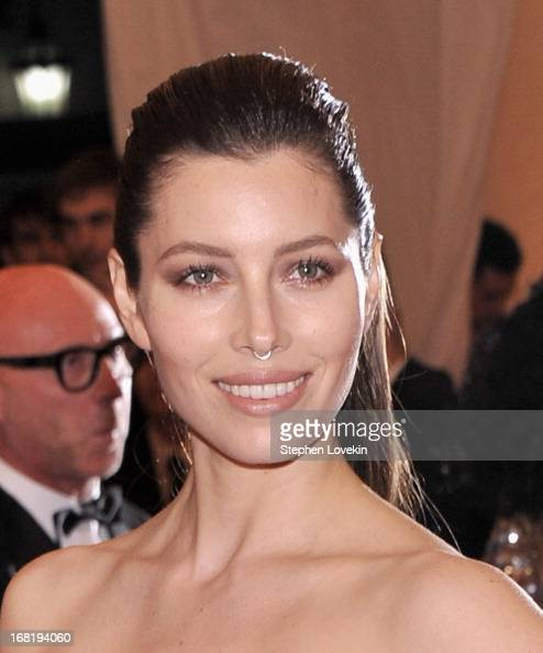 Jessica Biel attends the Costume Institute Gala for the 'PUNK Chaos to Couture' exhibition at the Metropolitan Museum of Art on May 6 2013 in New...