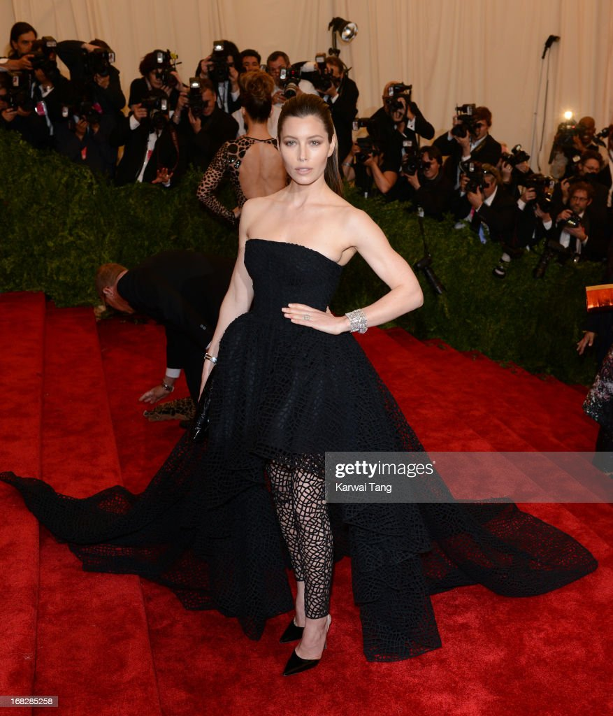 Jessica Biel attends the Costume Institute Gala for the 'PUNK: Chaos to Couture' exhibition at the Metropolitan Museum of Art on May 6, 2013 in New York City.