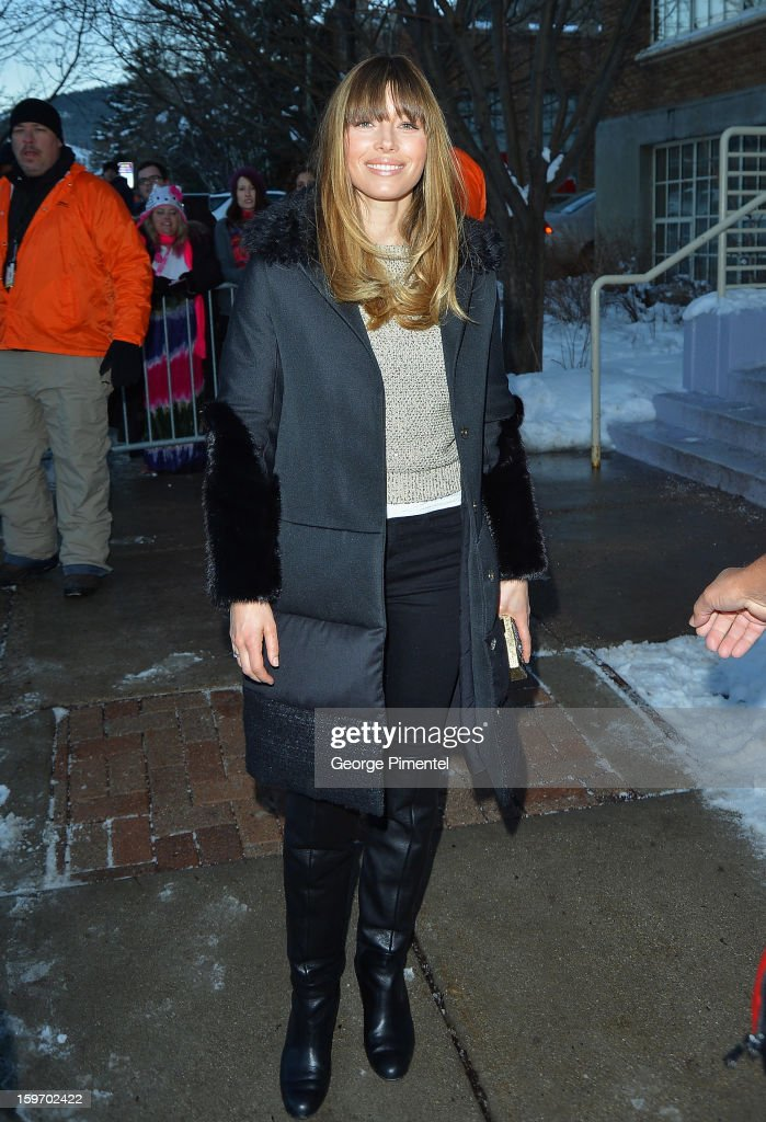 Jessica Biel attends the 'Emanuel and The Truth About Fishes' Premiere during the 2013 Sundance Film Festival at Library Center Theater on January 18, 2013 in Park City, Utah.