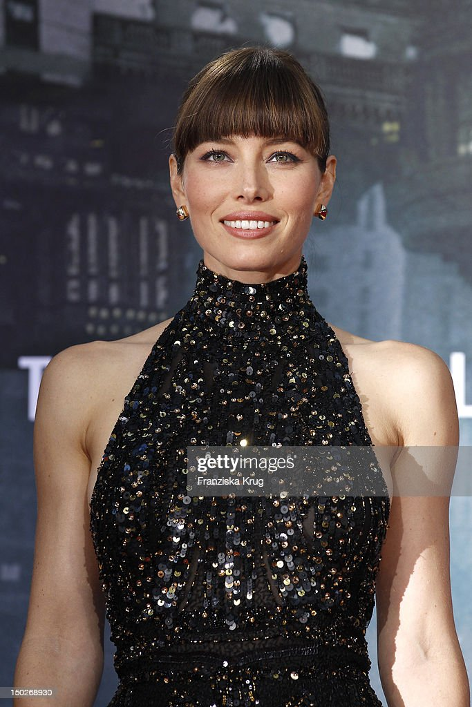 <a gi-track='captionPersonalityLinkClicked' href=/galleries/search?phrase=Jessica+Biel&family=editorial&specificpeople=203011 ng-click='$event.stopPropagation()'>Jessica Biel</a> attends the German premiere of 'Total Recall' at Sony Center on August 13, 2012 in Berlin, Germany.