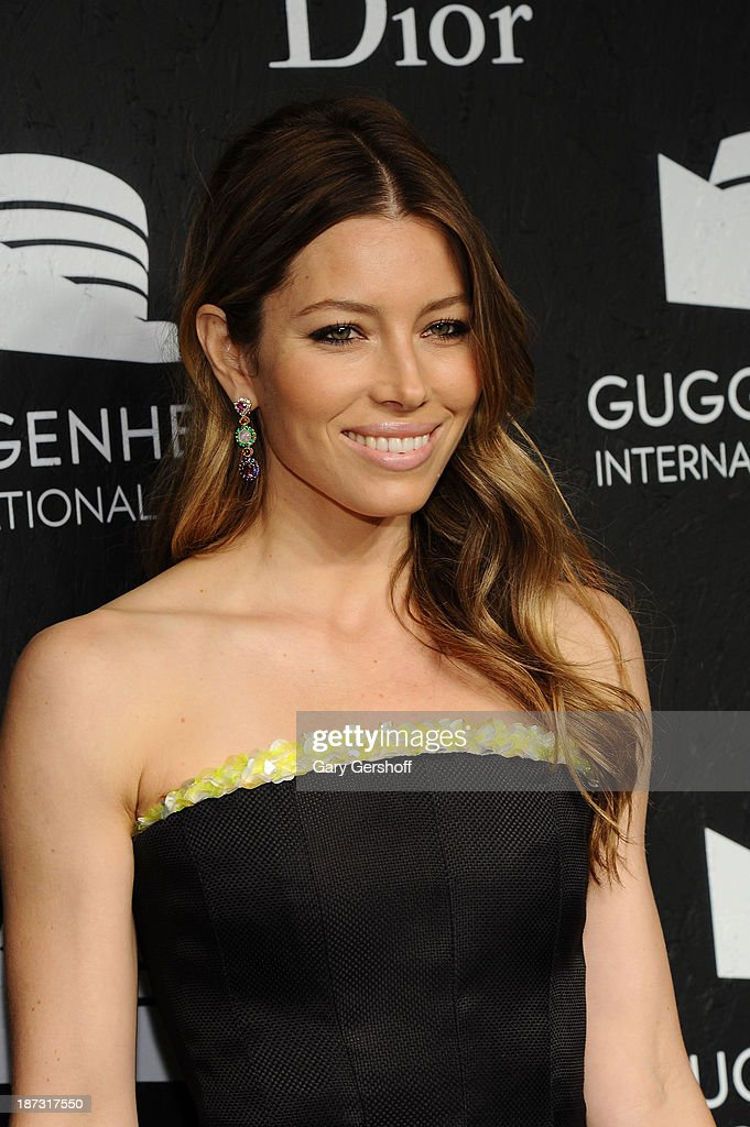 Jessica Biel attends the Guggenheim International Gala, made possible by Dior, at the Guggenheim Museum on November 7, 2013 in New York City.