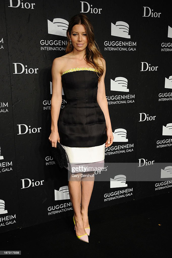<a gi-track='captionPersonalityLinkClicked' href=/galleries/search?phrase=Jessica+Biel&family=editorial&specificpeople=203011 ng-click='$event.stopPropagation()'>Jessica Biel</a> attends the Guggenheim International Gala, made possible by Dior, at the Guggenheim Museum on November 7, 2013 in New York City.