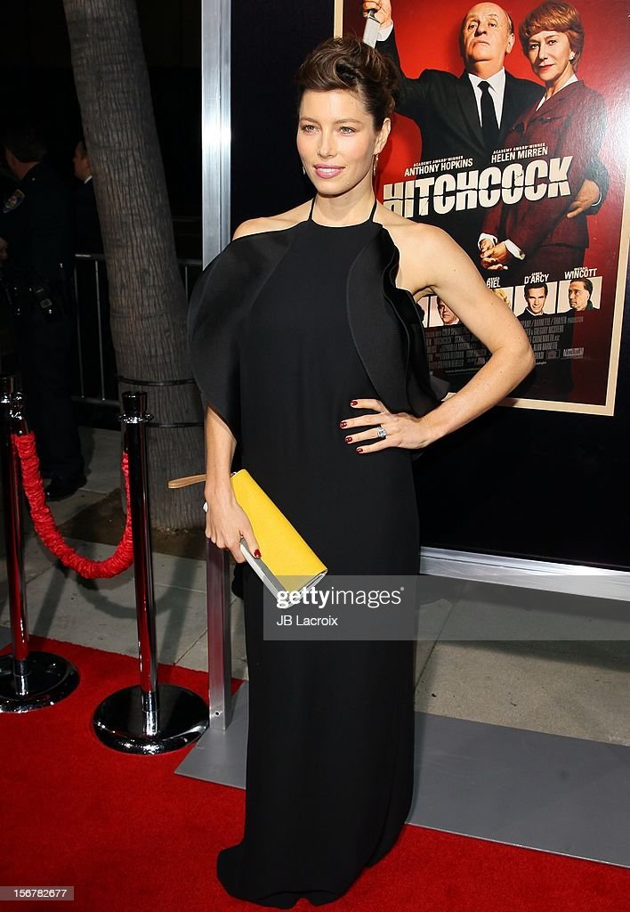 Jessica Biel attends the 'Hitchcock' - Los Angeles Premiere at the Academy of Motion Picture Arts and Sciences on November 20, 2012 in Beverly Hills, California.