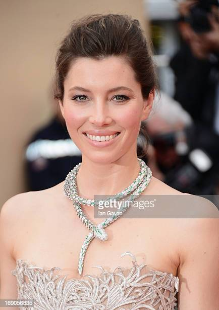 Jessica Biel attends the 'Inside Llewyn Davis' Premiere during the 66th Annual Cannes Film Festival at Grand Theatre Lumiere on May 19 2013 in Cannes...