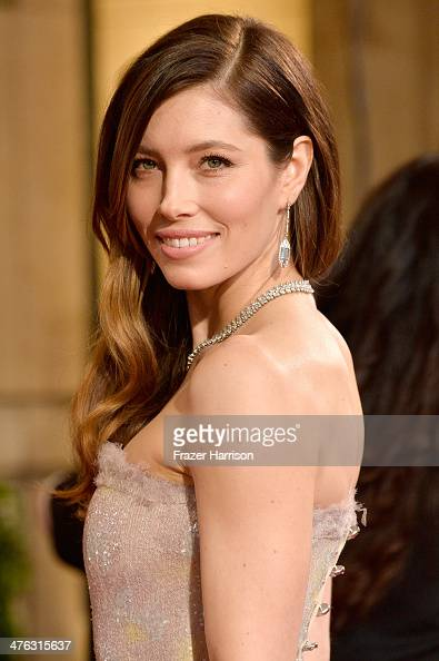 Jessica Biel attends the Oscars held at Hollywood Highland Center on March 2 2014 in Hollywood California