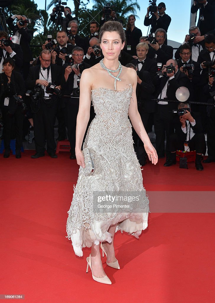Jessica Biel attends the Premiere of 'Inside Llewyn Davis' at The 66th Annual Cannes Film Festival on May 19, 2013 in Cannes, France.
