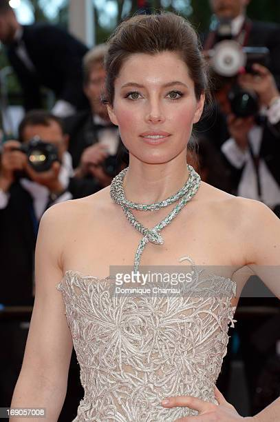 Jessica Biel attends the Premiere of 'Inside Llewyn Davis' during the 66th Annual Cannes Film Festival at Palais des Festivals on May 19 2013 in...