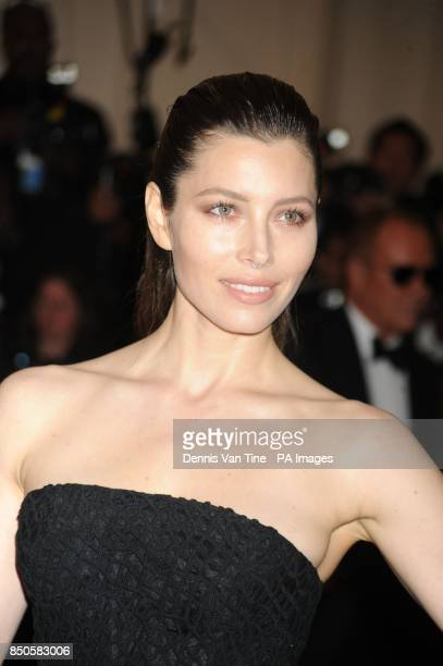 Jessica Biel attends the 'Punk' Chaos to Couture' Costume Institute Benefit Met Gala at the Metropolitan Museum in New York