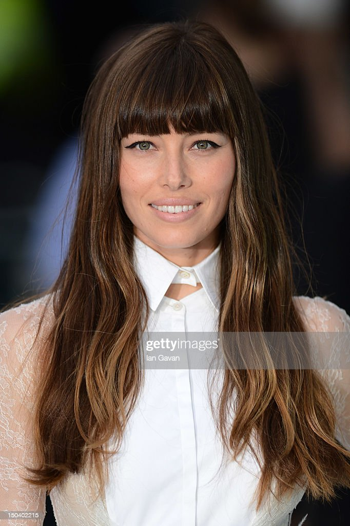 Jessica Biel attends the 'Total Recall' UK premiere at Vue West End on August 16, 2012 in London, England.