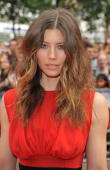 Jessica Biel attends the UK Film Premiere of 'The ATeam' at Empire Leicester Square on July 27 2010 in London England