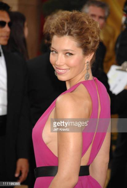 Jessica Biel during The 79th Annual Academy Awards Arrivals at Kodak Theatre in Hollywood California United States