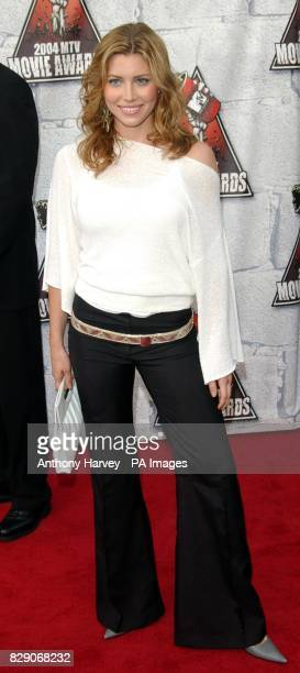 Jessica Biel during the MTV Movie Awards 2004 at the Sony Studios Culver City Los Angeles USA