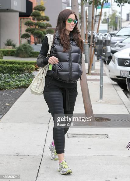 Jessica Biel is seen in Los Angeles on December 01 2014 in Los Angeles California