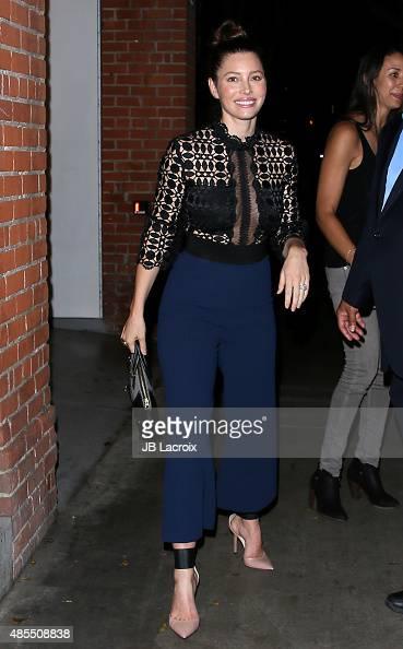 Jessica Biel is seen on August 27 2015 in Los Angeles California