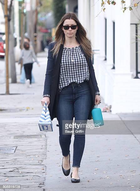 Jessica Biel is seen on January 16 2016 in Los Angeles California