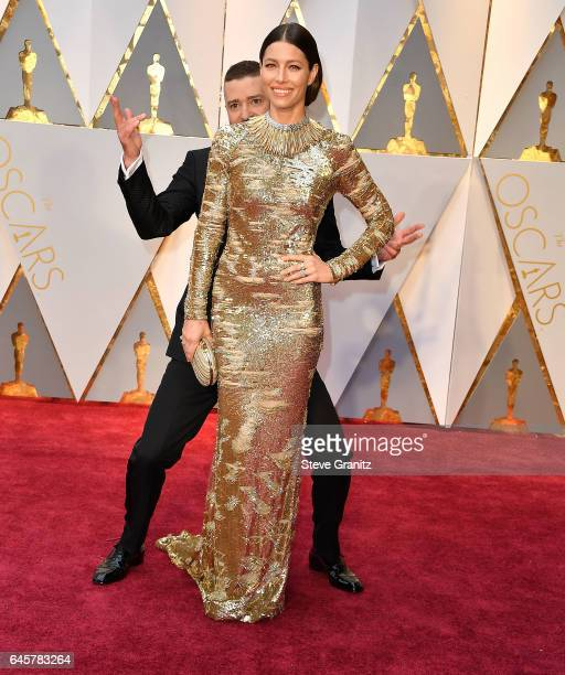 Jessica Biel Justin Timberlake arrives at the 89th Annual Academy Awards at Hollywood Highland Center on February 26 2017 in Hollywood California