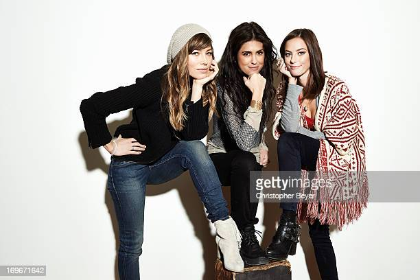 Jessica Biel Kaya Scodelario Francesca Gregorini are photographed for Entertainment Weekly Magazine on January 19 2013 in Park City Utah