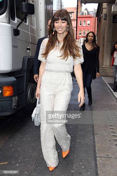 Jessica Biel seen at KISS FM on August 16 2012 in London England