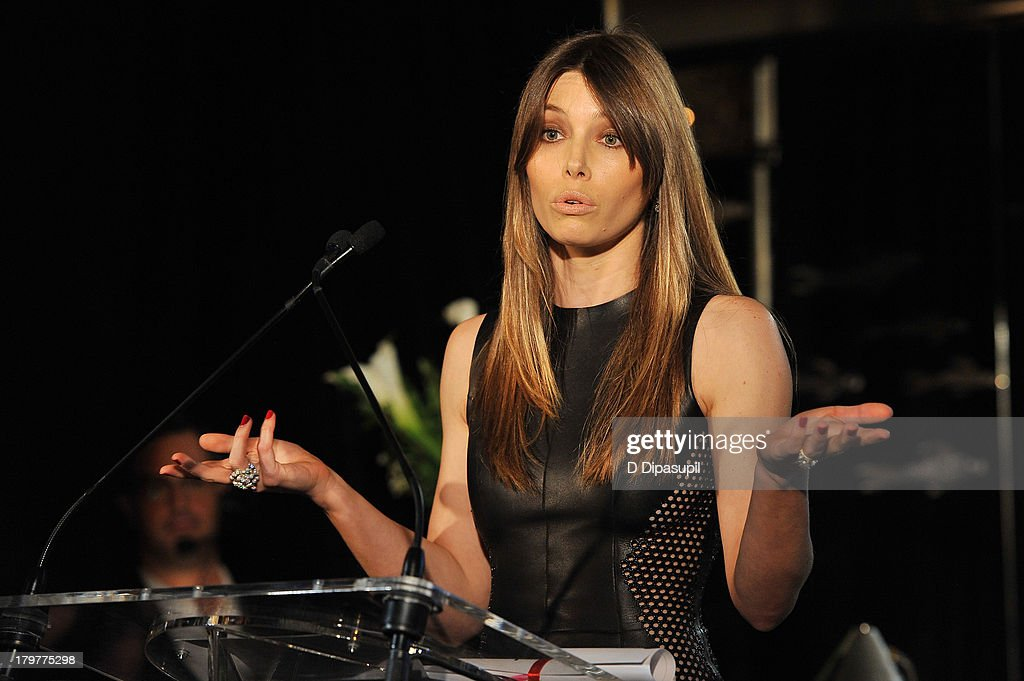 <a gi-track='captionPersonalityLinkClicked' href=/galleries/search?phrase=Jessica+Biel&family=editorial&specificpeople=203011 ng-click='$event.stopPropagation()'>Jessica Biel</a> speaks onstage at The Daily Front Row's Fashion Media Awards at Harlow on September 6, 2013 in New York City.