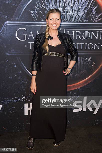 Jessica Boehrs attends the pre opening party of the exhibition 'Game of Thrones Die Ausstellung' on May 12 2015 in Berlin Germany