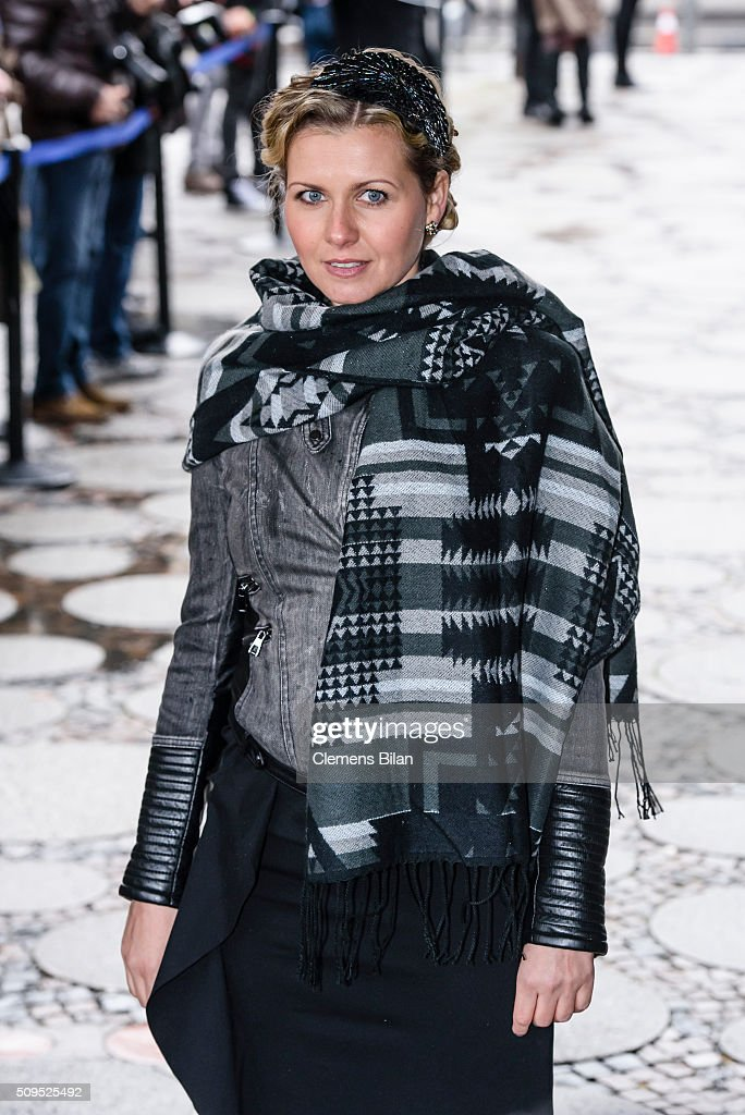 Jessica Boehrs attends the Wolfgang Rademann memorial service on February 11, 2016 in Berlin, Germany.