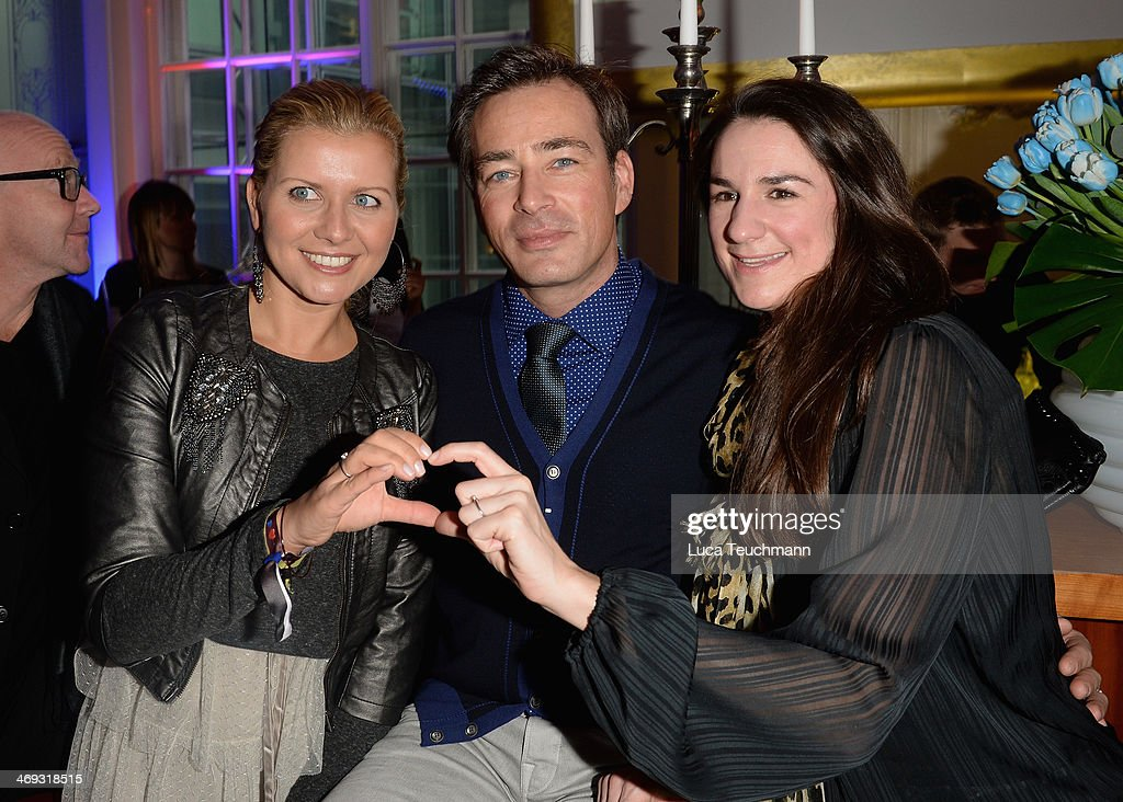 Jessica Boehrs, Jan Sosniok and Nadine Moellers attend the Blaue Blume Awards during 64th Berlinale International Film Festival on February 14, 2014 in Berlin, Germany.