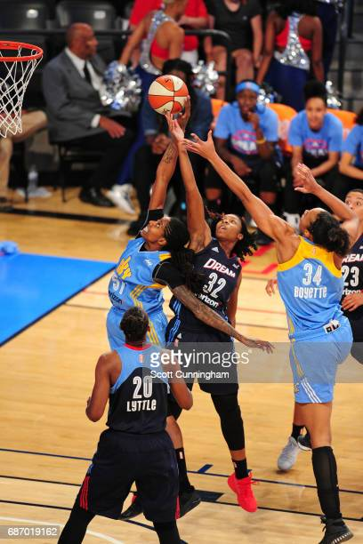 Jessica Breland of the Chicago Sky goes to the basket against the Atlanta Dream on May 21 2017 at Hank McCamish Pavilion in Atlanta Georgia NOTE TO...