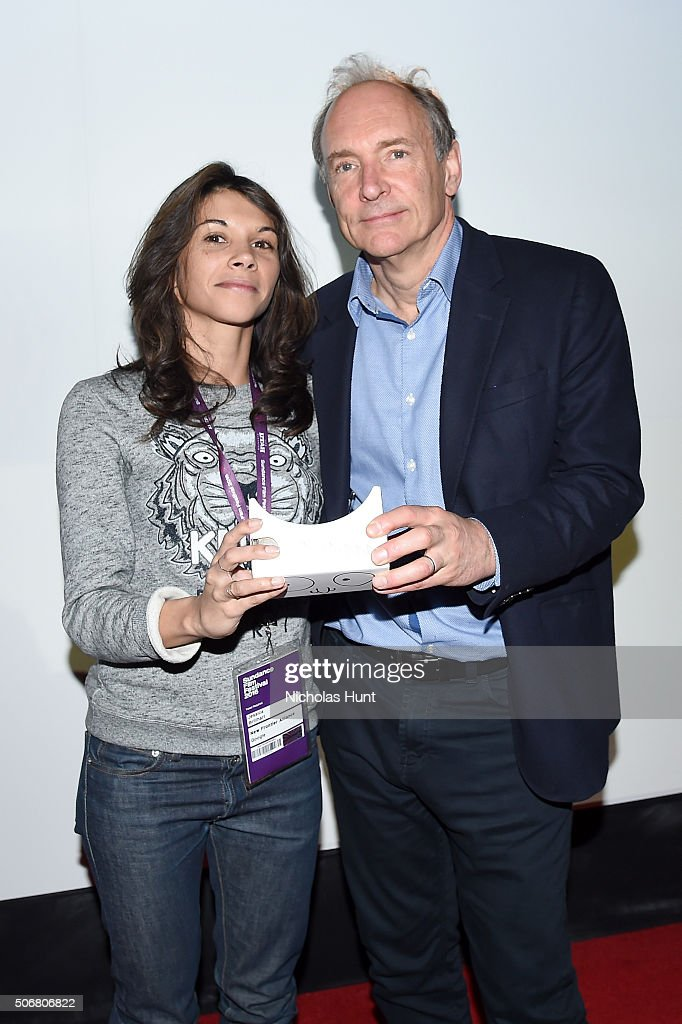 Jessica Brillhart (L) and <a gi-track='captionPersonalityLinkClicked' href=/galleries/search?phrase=Tim+Berners-Lee&family=editorial&specificpeople=2609258 ng-click='$event.stopPropagation()'>Tim Berners-Lee</a> attend Social Cinema: New Frontier 10th Anniversary Dinner during the 2016 Sundance Film Festival at New Frontier on January 25, 2016 in Park City, Utah.