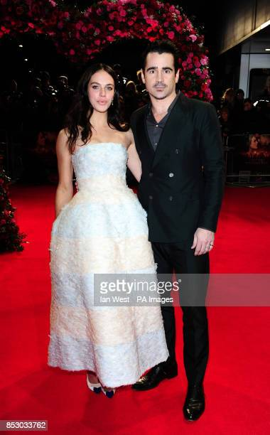 Jessica Brown Findlay and Colin Farrell attending the premiere of A New York Winter's Tale at the Odeon Kensington London