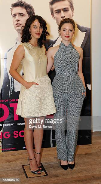 Jessica Brown Findlay and Holliday Grainger poses at 'The Riot Club' photocall at the BFI Southbank on September 15 2014 in London England