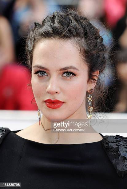 Jessica Brown Findlay arrives on the red carpet for The Philips British Academy Television Awards at Grosvenor House on May 22 2011 in London England