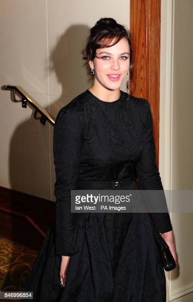 Jessica Brown Findlay arriving at the Bafta After Party at the Grosvenor Hotel in London