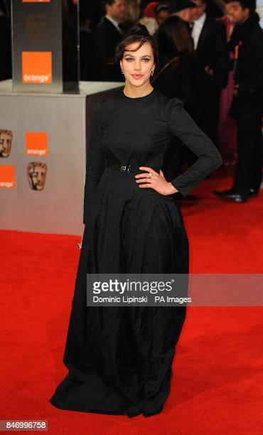 Jessica Brown Findlay arriving for the 2012 Orange British Academy Film Awards at the Royal Opera House Bow Street London