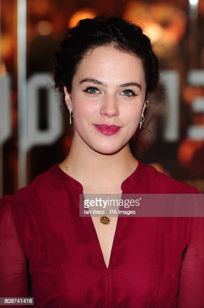 Jessica Brown Findlay arriving for the UK premiere of War Horse at the Odeon Leicester Square London