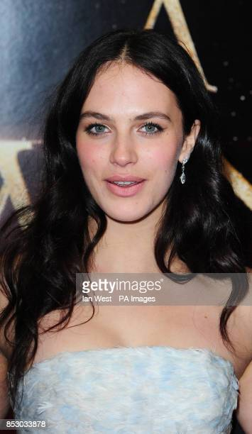 Jessica Brown Findlay attending the premiere of A New York Winter's Tale at the Odeon Kensington London