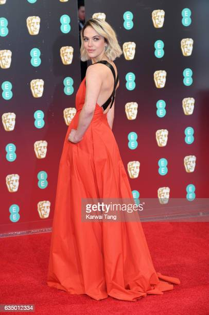 Jessica Brown Findlay attends the 70th EE British Academy Film Awards at the Royal Albert Hall on February 12 2017 in London England