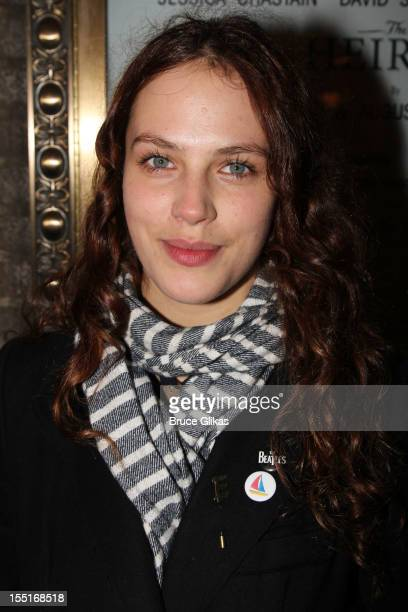 Jessica Brown Findlay attends the opening night of the revival of 'The Heiress' on Broadway at the Walter Kerr Theatre on November 1 2012 in New York...